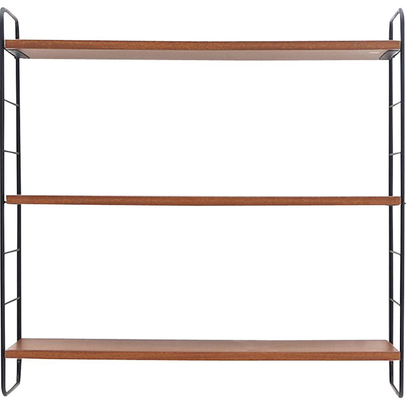 Vintage hanging bookcase with three shelves, 1960s