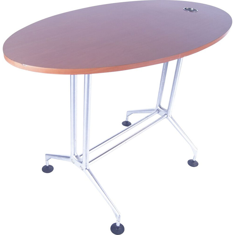 Vintage high stand table on alloy feet by Vitra Ad Hoc