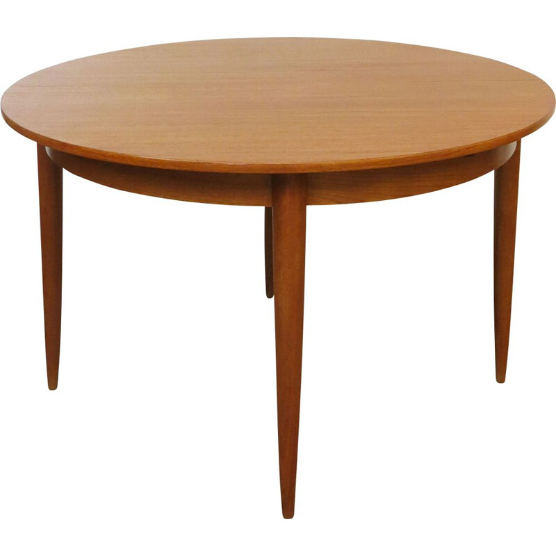 Vintage teak table with extensions, 1960