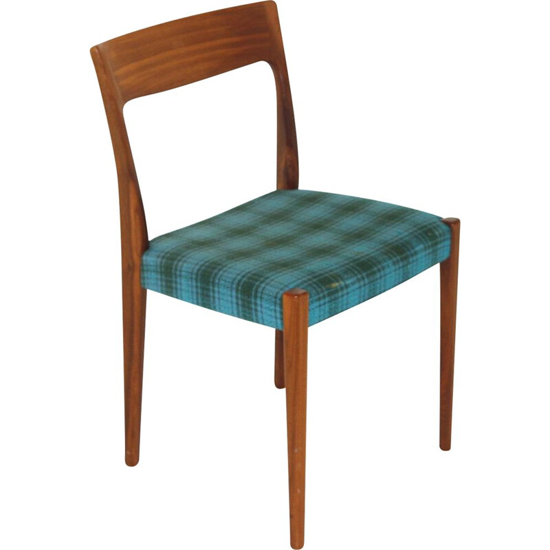 Vintage teak and fabric chair, Sweden 1960