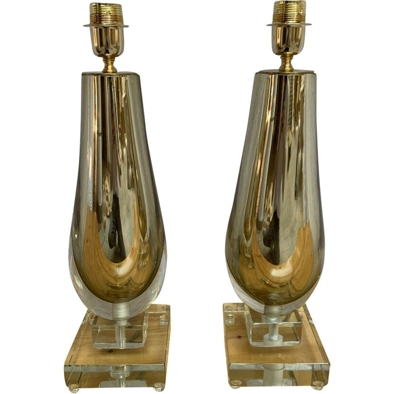 Pair of vintage lamps by Alberto Dona Murano, 1990