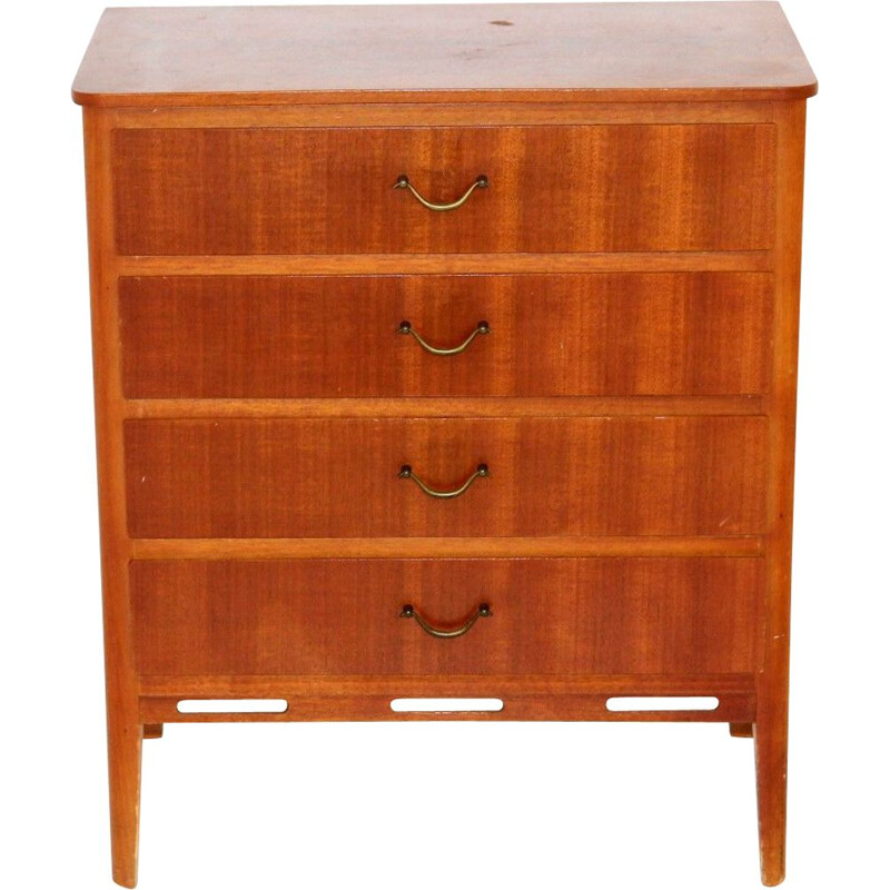 Vintage mahogany chest of drawers, Sweden 1950