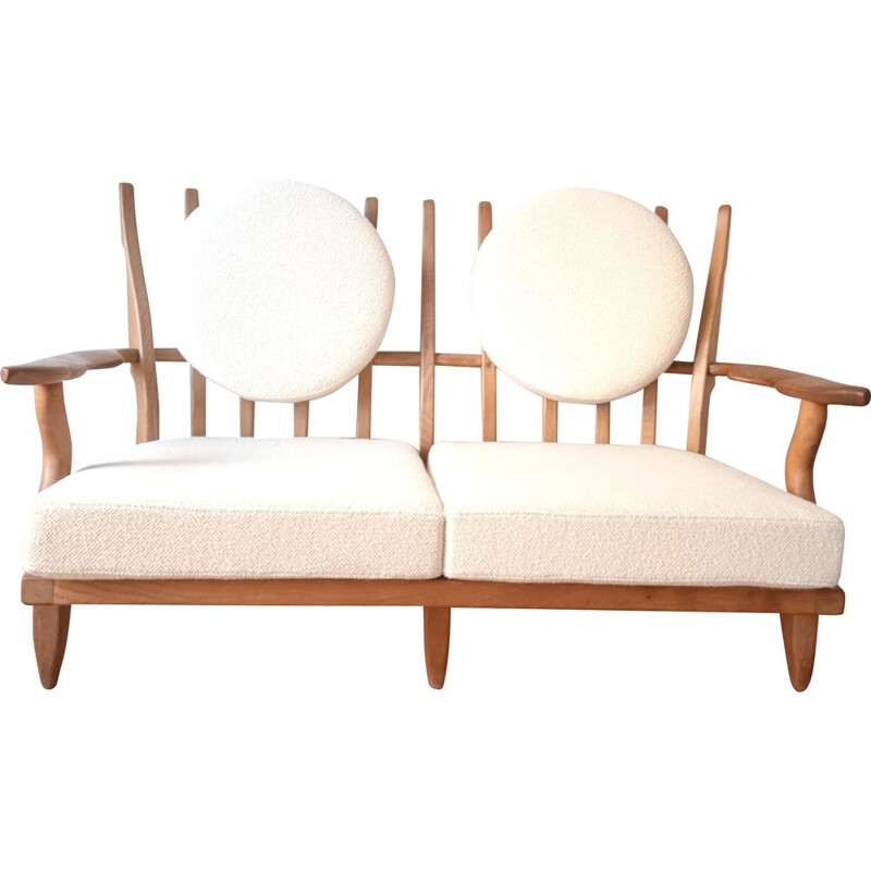 """""""Grand Repos"""" vintage sofa by Guillerme and Chambron"""