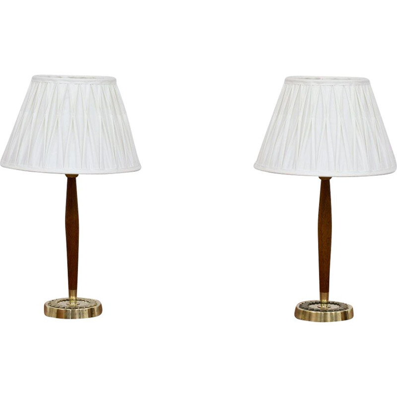 Pair of Swedish vintage table lamps by Hans Bergström for ASEA, 1950s