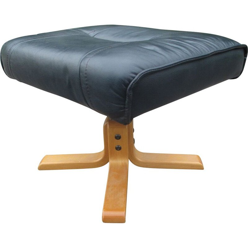 Mid century leather footrest by Unico, Denmark 1970s
