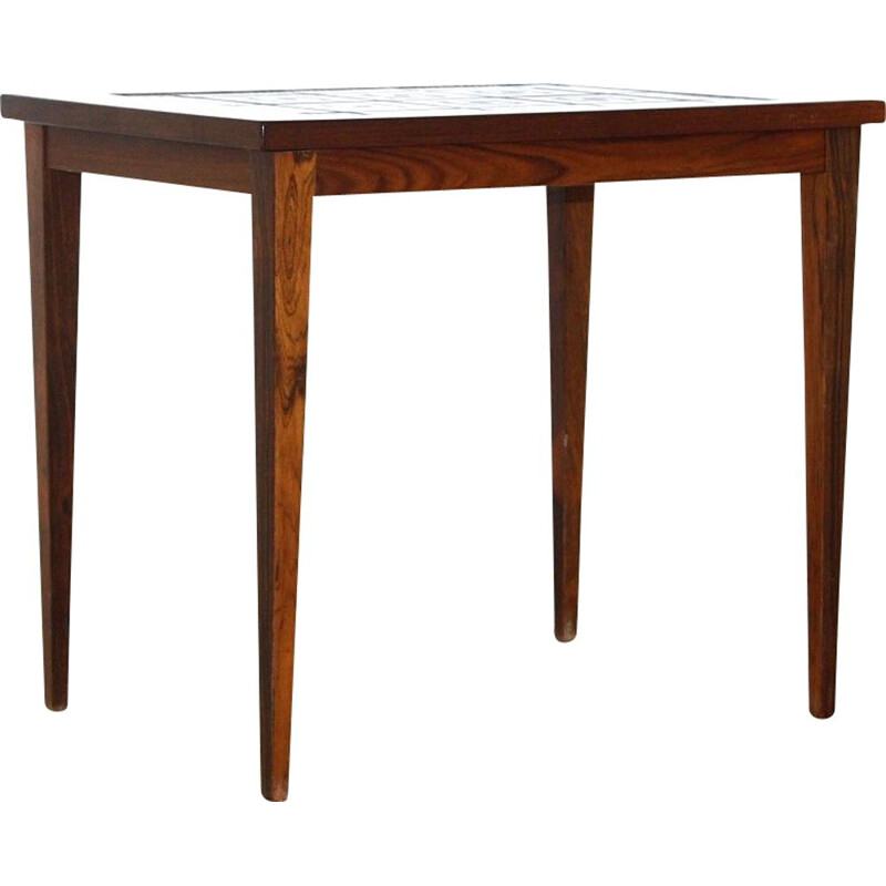 Vintage ceramic and rosewood table, Denmark 1960