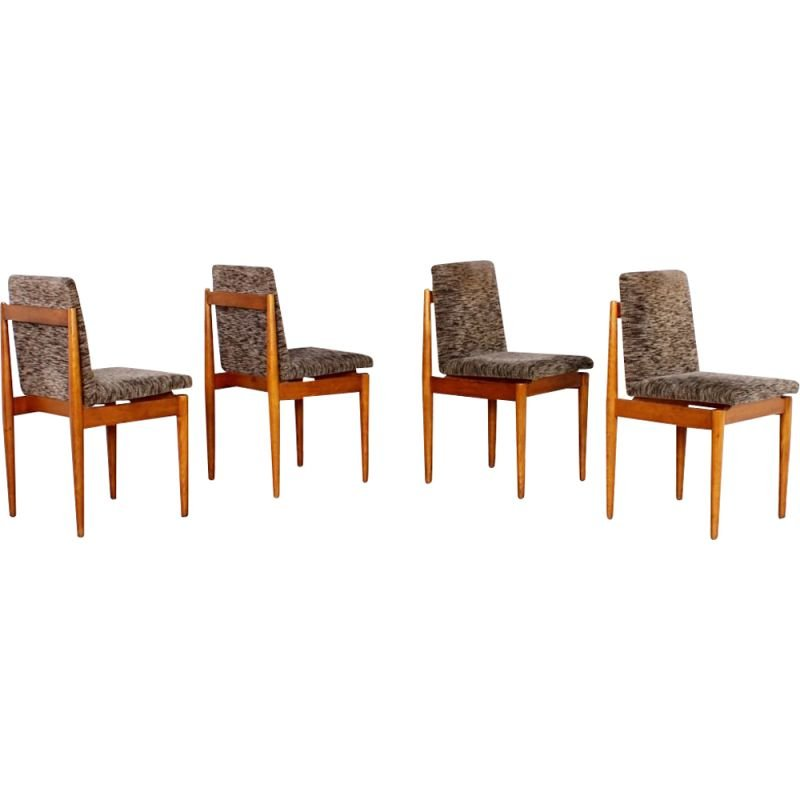 Set of 4 vintage dining shairs, 1960s