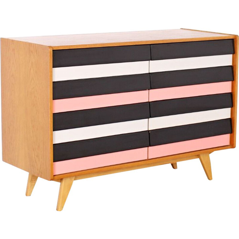 Mid century multicolored chest of drawers by Jiri Jiroutek