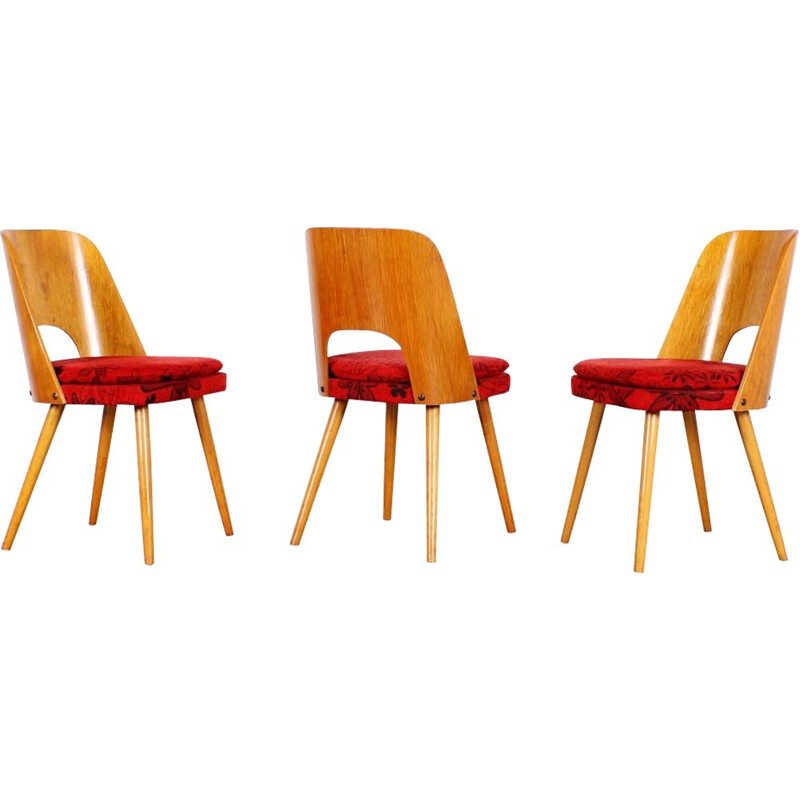 Set of 3 vintage dining chairs by Oswald Haerdtl