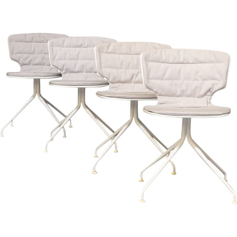 """Set of 4 vintage """"erice"""" chairs by Alberto Haberli for Alias, 2000"""