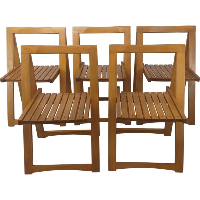 Set of 5 vintage folding chairs by Aldo Jacober, 1970