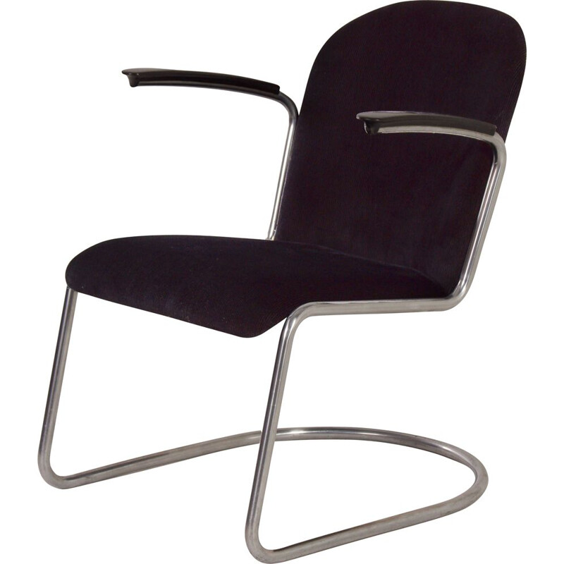 Mid century 413 cantilever armchair by W.H. Gispen for Gispen, 1950s
