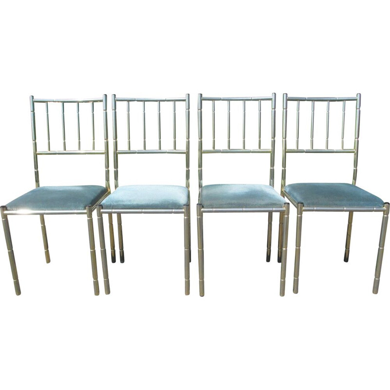 Set of 4 vintage chairs, Italy 1970s