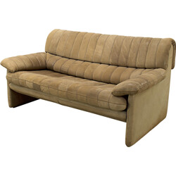 DS-85 De Sede double seat sofa in leather - 1960s
