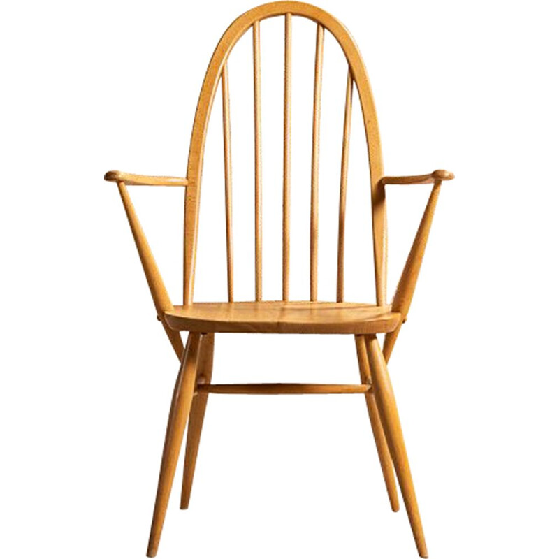 Vintage Windsor Quaker chair with arms by Lucian Ercolani for Ercol, 1960
