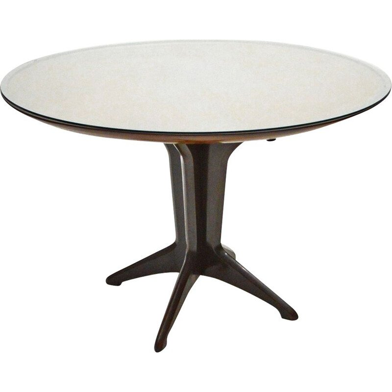 Italian vintage rosewood extending dining table, 1950s