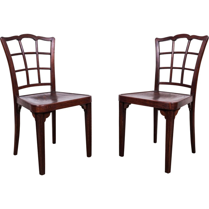 Pair of vintage A 562 chairs by Otto Prutscher for Thonet, 1920