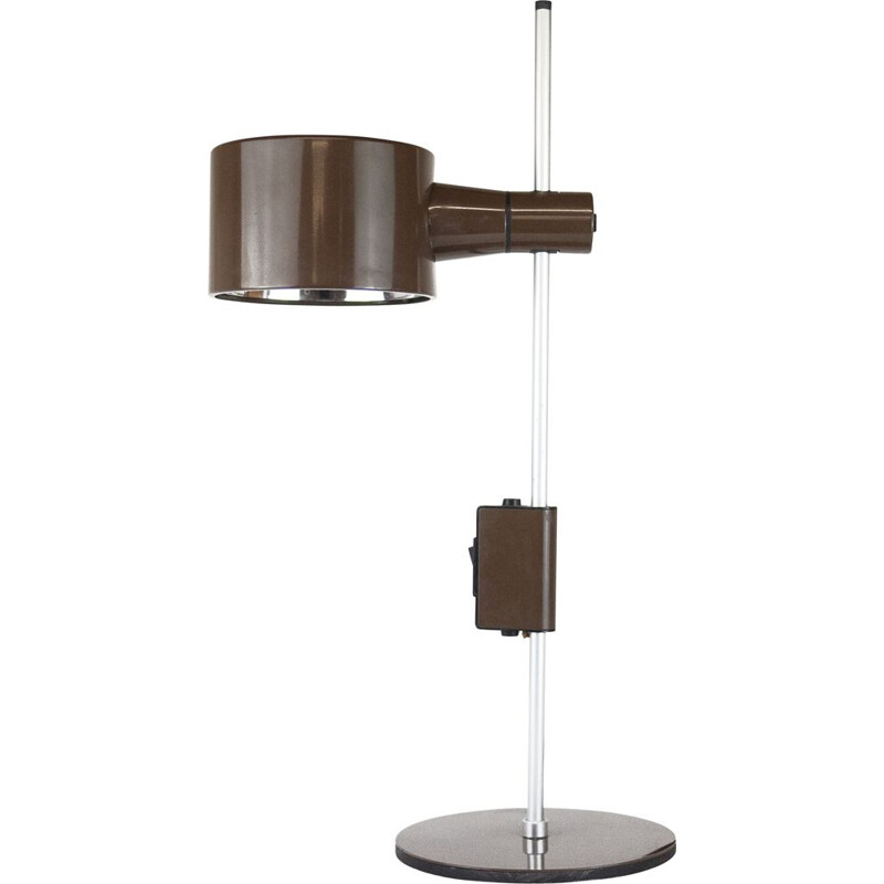 Mid century table lamp in brown by Peter Nelson & Ronald Holmes, 1960s