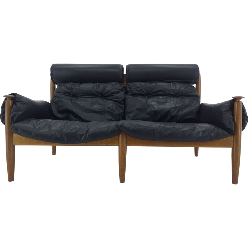 Mid century leather sofa by Sergio Rodrigues for Profilia Werke, 1960s