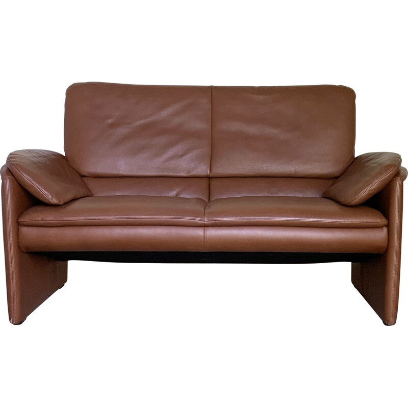 Vintage camel leather sofa by Axel Enthoven, 1980