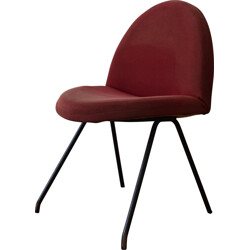 Steiner chair in metal and red fabric, Joseph-André MOTTE - 1960s
