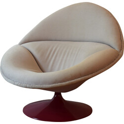 F553 Artifort armchair in beige fabric, Pierre PAULIN - 1960s