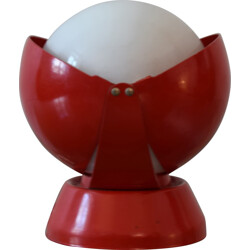 Lamp in red lacquered metal, Giovanni Luigi GORGONI - 1950s