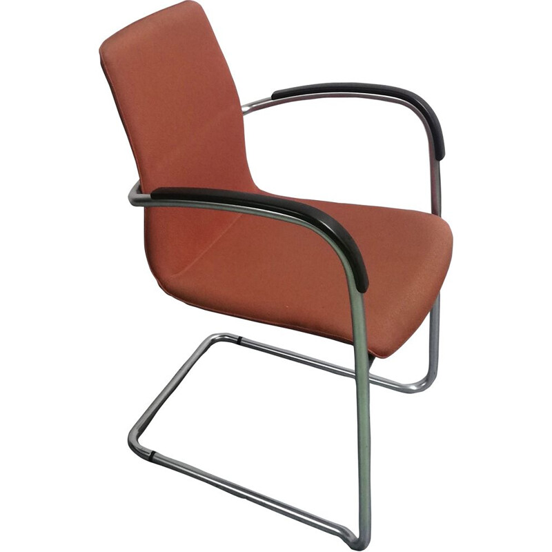 Vintage 8500 Kusch Co office chair in brown fabric