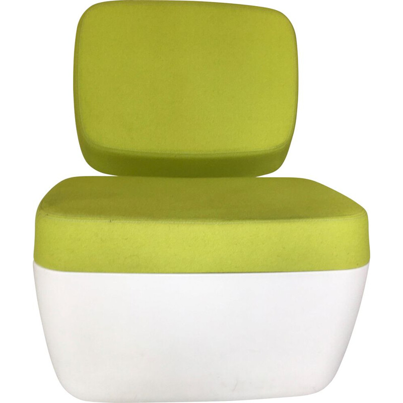 """White and green vintage armchair """"Nimrod"""" by Marc Newson for Magis"""