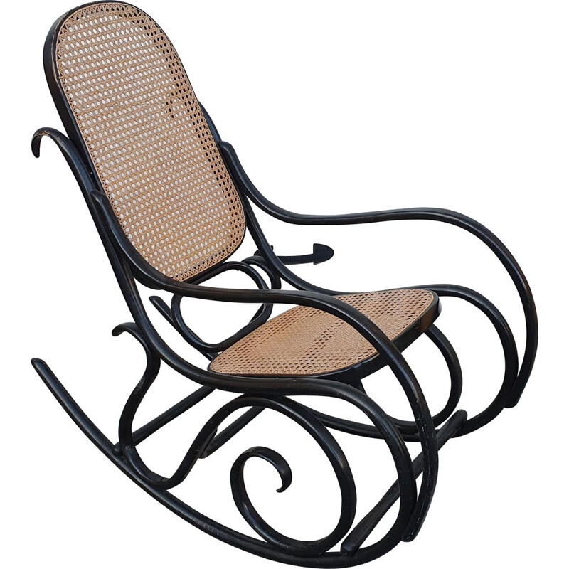 Vintage bentwood rocking chair by Michael Thonet