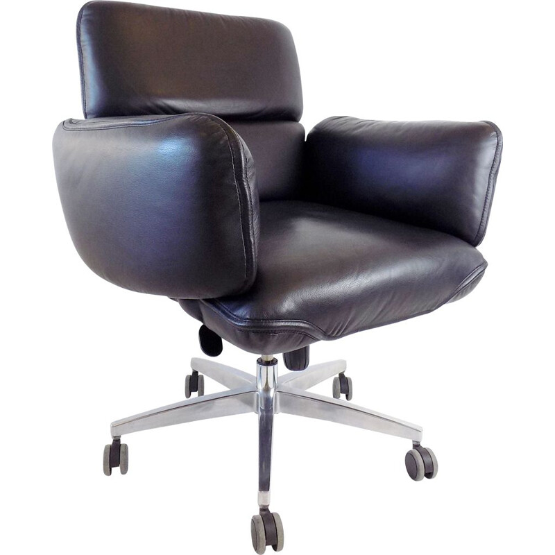 Vintage office leather armchair by Otto Zapf for Top Star