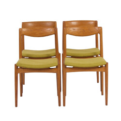 Set of four Danish chairs in oakwood - 1960s
