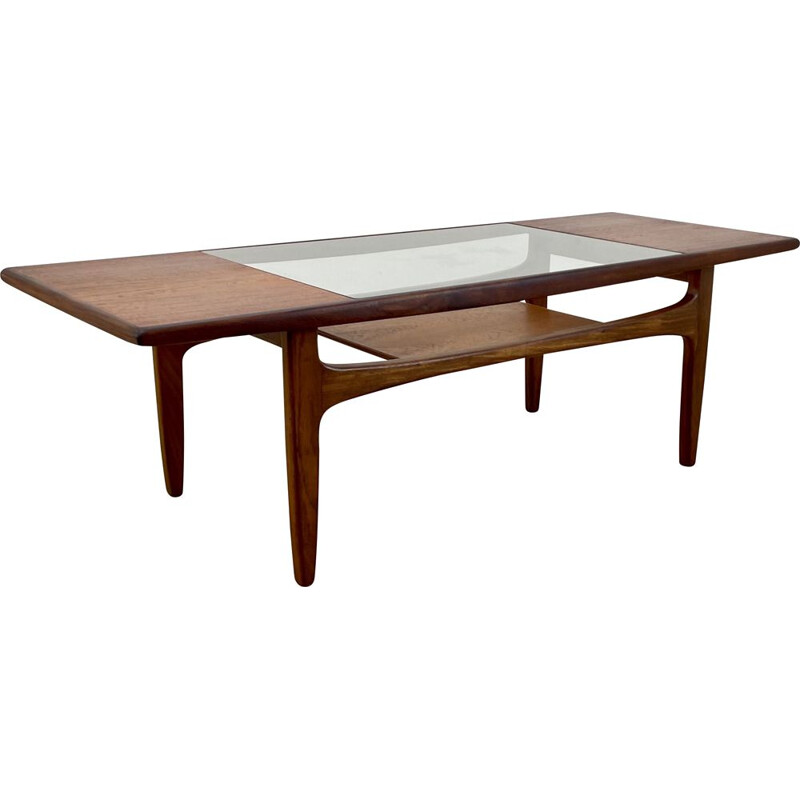 Mid century G Plan teak and glass coffee table by Victor Wilkins, 1960s