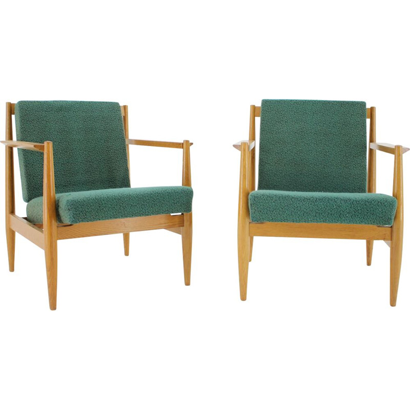 Pair of vintage Ton armchairs by Thonet, Czechoslovakia 1960s