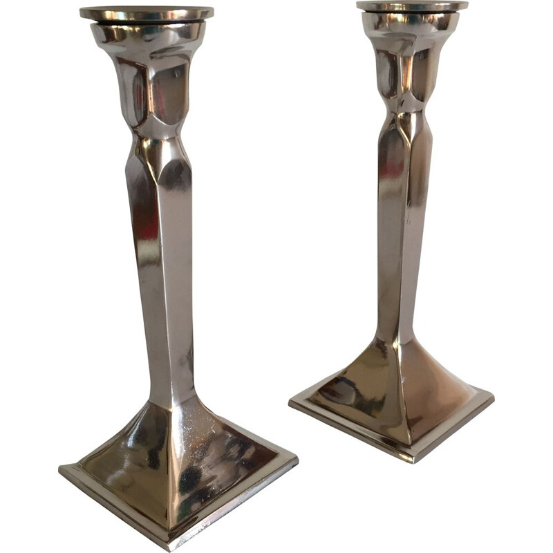 Pair of neo classic vintage candlesticks