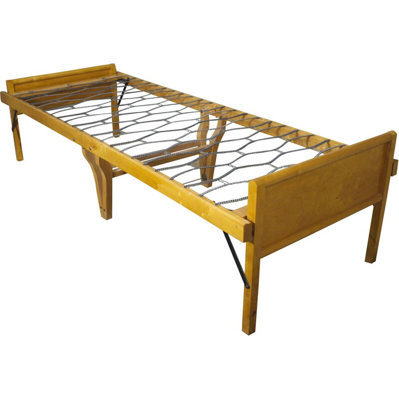 Danish vintage daybed foldable guest in beechwood, Sweden 1960s