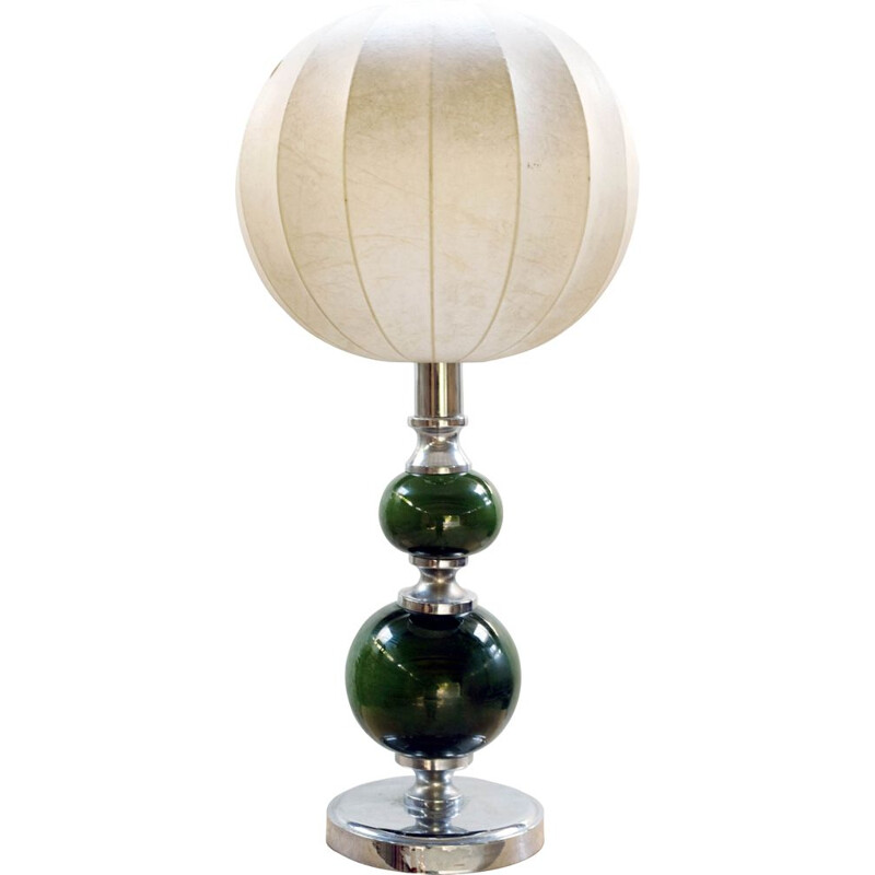 Mid-century lamp with cocoon by A. Castiglioni, Italy 1960s