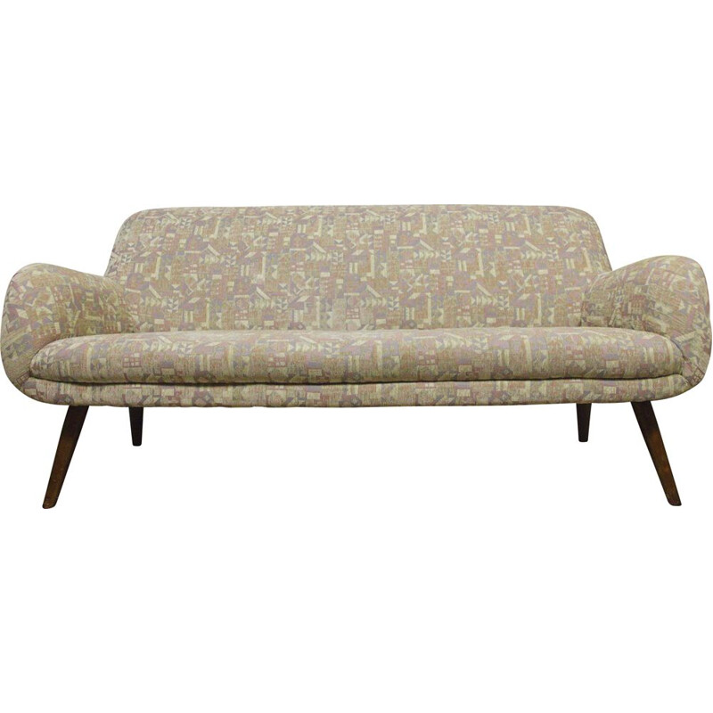 Vintage cocktail sofa with slanted legs, 1950s
