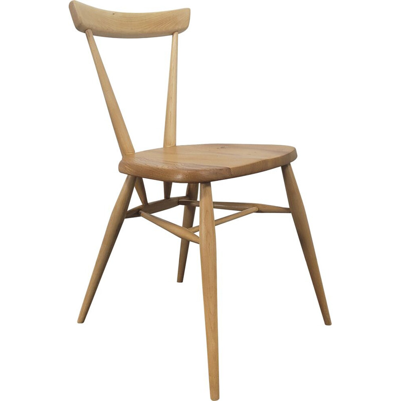Vintage single back stacking dining chair by Ercol, 1960s