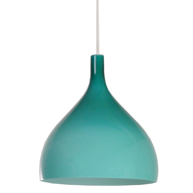 Green Venini hanging lamp in Murano glass, Paolo VENINI - 1960s