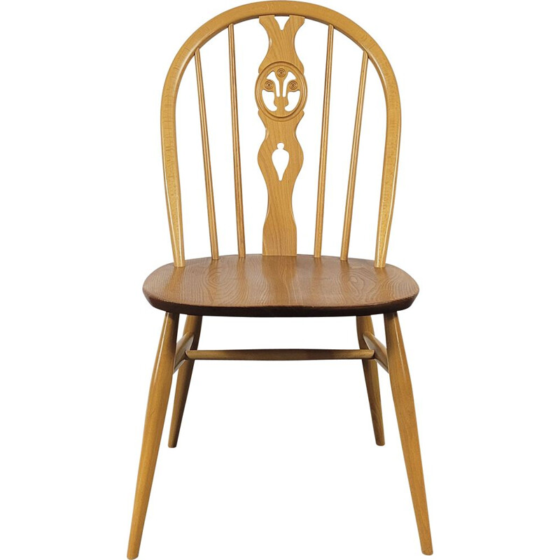 Vintage Fleur Windsor dining chair by Ercol, 1980s