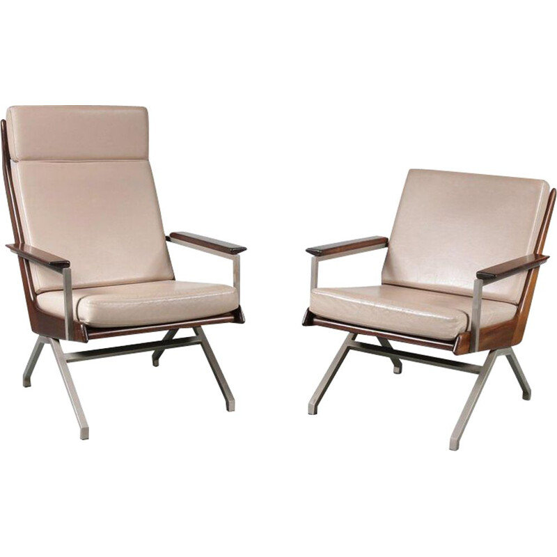 Pair of vintage armchairs by Rob Parry for Gelderland, Netherlands 1960