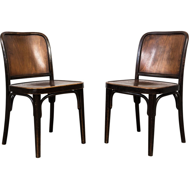 Pair of vintage Thonet A 811 chairs by Josef Hoffmann, 1930s