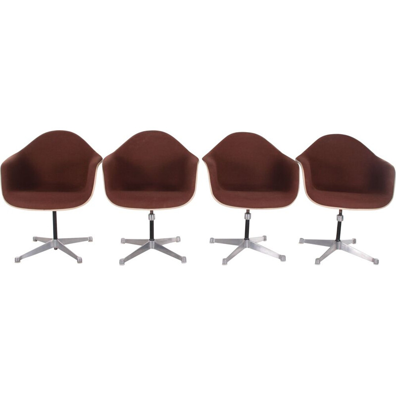 Set of 4 vintage DAX armchairs by Charles & Ray Eames for Herman Miller, USA 1970s