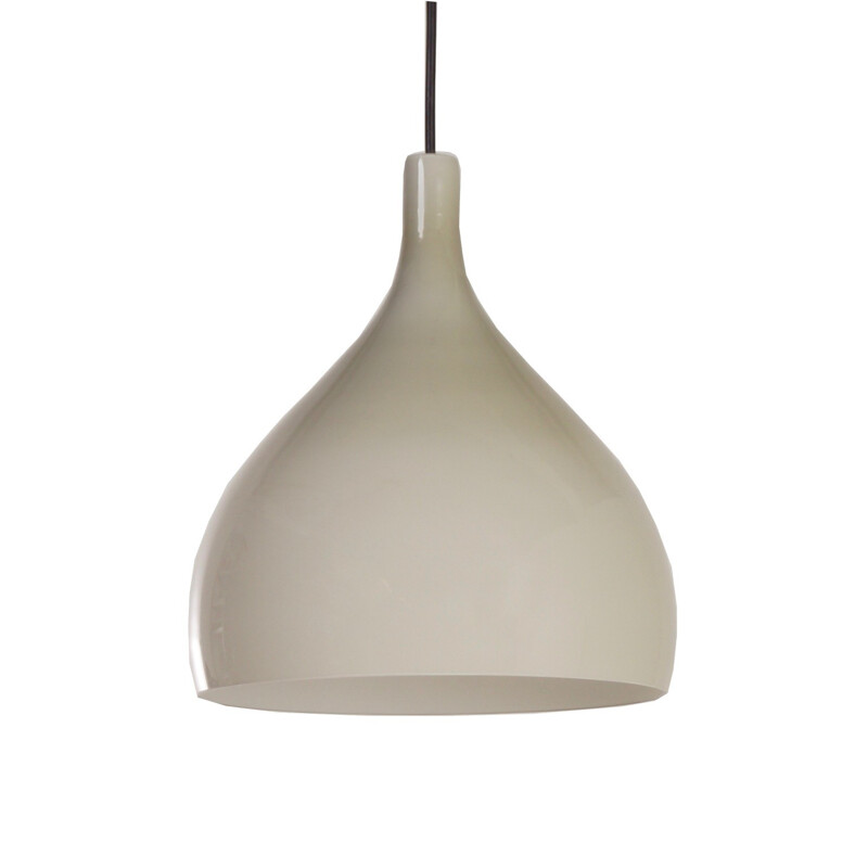 Beige Venini hanging lamp in Murano glass, Paolo VENINI - 1960s