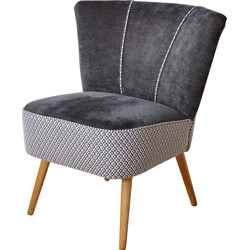 Cocktail grey armchair in beech wood - 1950