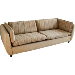 Original Danish 2 seater sofa in wool and beech - 1970s
