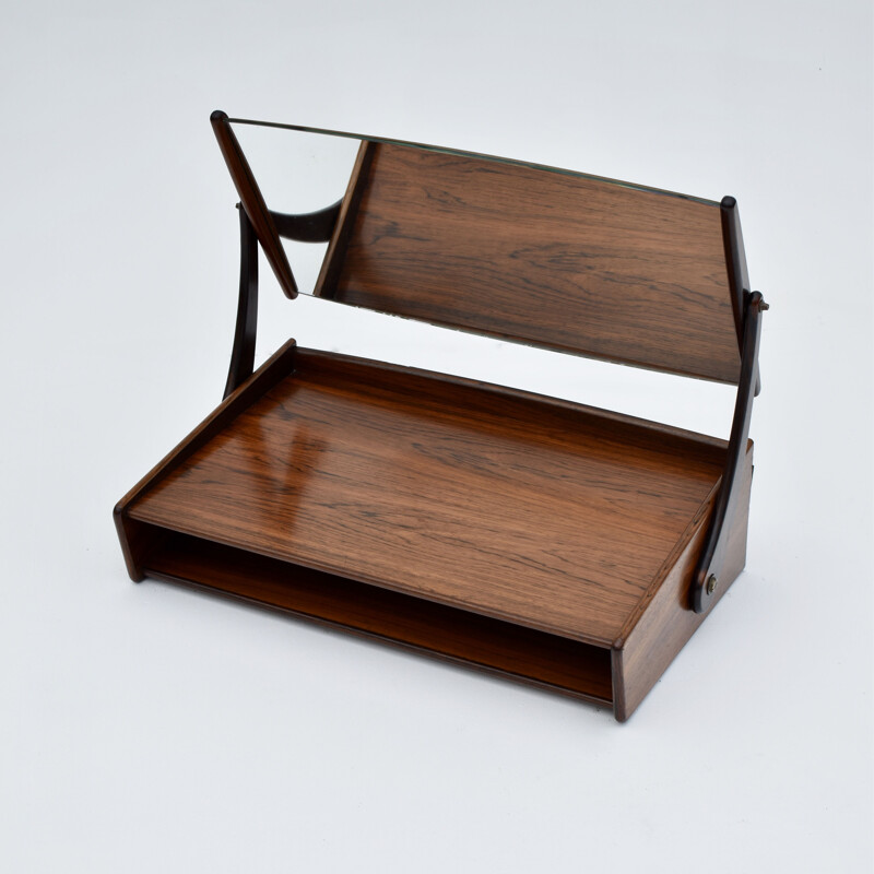 Rosewood Wall Mounted Vanity Unit by Svend Aage Madsen for NB Mobler