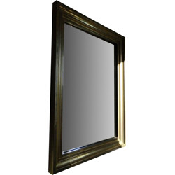 Large brass mirror with geometric details - 1960s