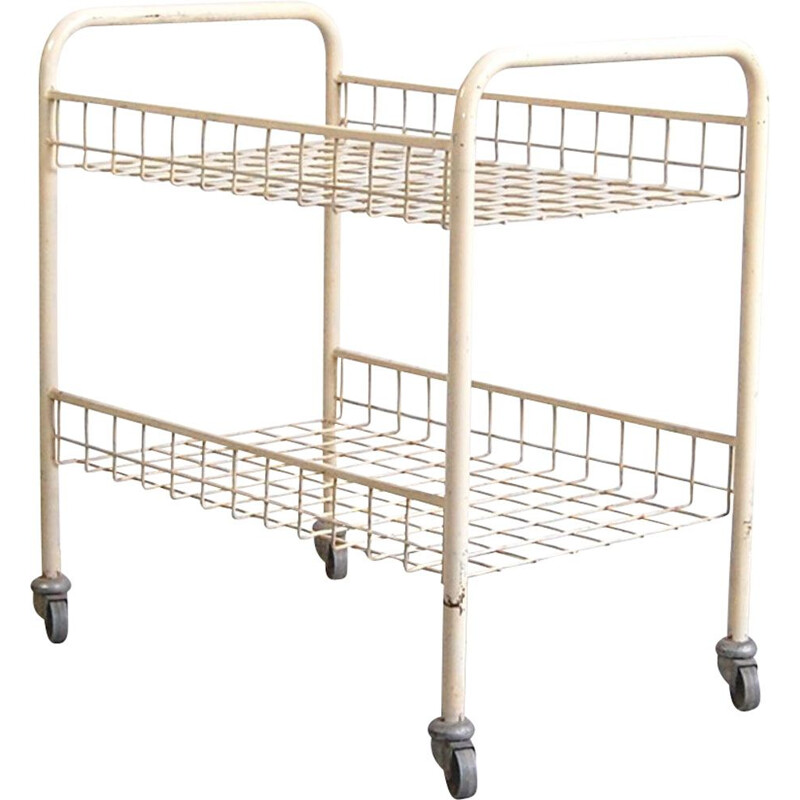 Mecatable vintage trolley by Pierre Guariche for Meurop, 1960s